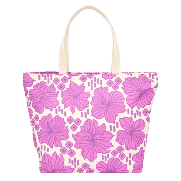 Everything Tote • Retro Blooms • Metallic Purple over Fuchsia