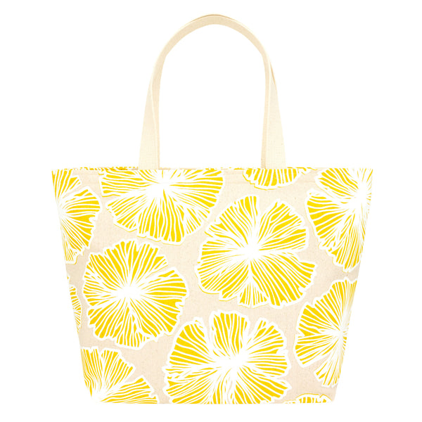 Everything Tote • Seaflower • White over Yellow