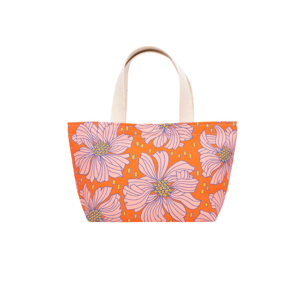Mini Beach Bag Tote • Blood Orange Betta Fish Blooms