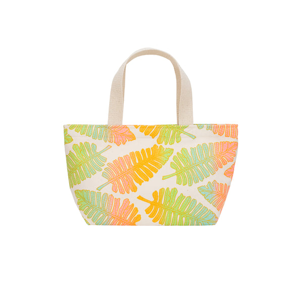Mini Beach Bag Tote • Native 'Ae • Gold over Rainbow Ombre