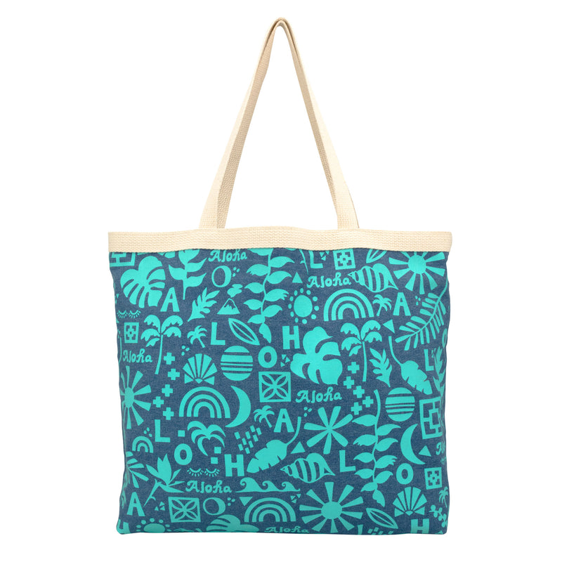 Shopper's Tote • Block Party on Denim