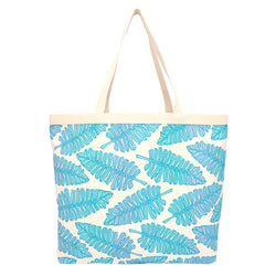 Shopper's Tote • Native 'Ae • Blue over Aqua, Blue, and Periwinkle Ombre