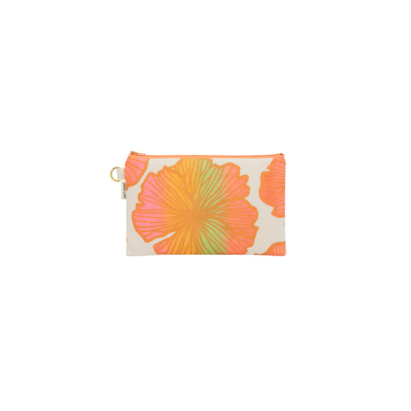 Classic Zipper Clutch • Seaflower • Copper over Neon Pink, Yellow, and Green Ombre