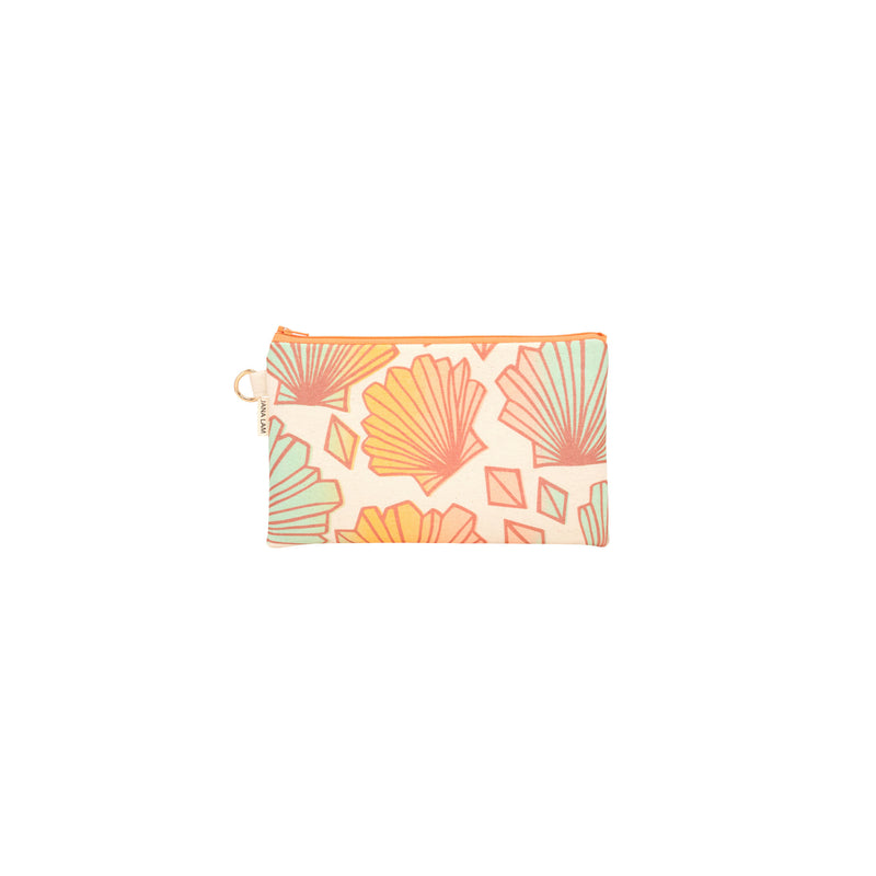 Classic Zipper Clutch • Sunny • Bronze over Mint Tangerine and Peach Ombre