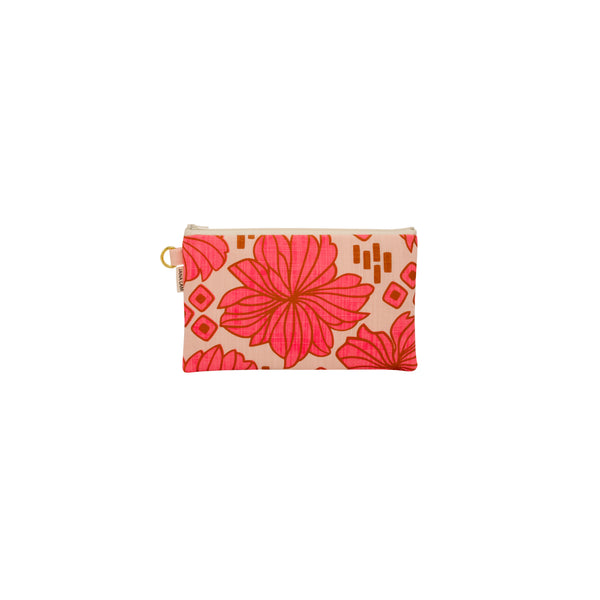 Classic Zipper Clutch • Retro Blooms