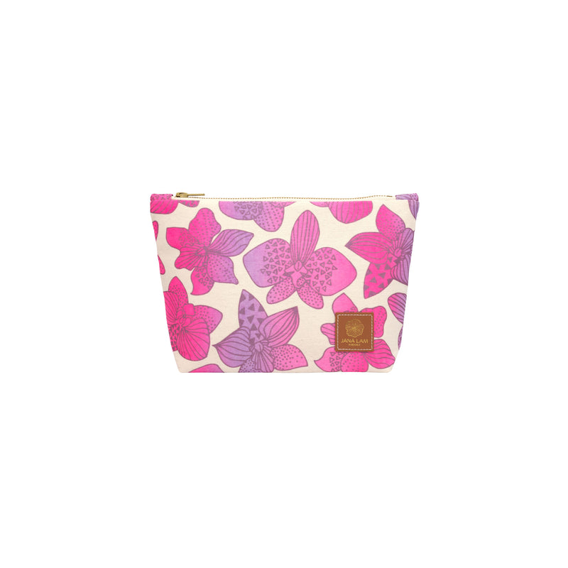 Cosmetic Zipper Clutch • Orchid • Metallic Mauve over Hot Pink and Purple Ombre