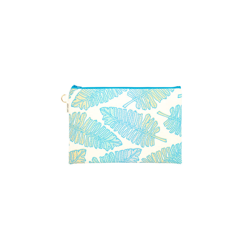 Oversize Zipper Clutch • Native 'Ae • Blue over Ocean and Sand Ombre