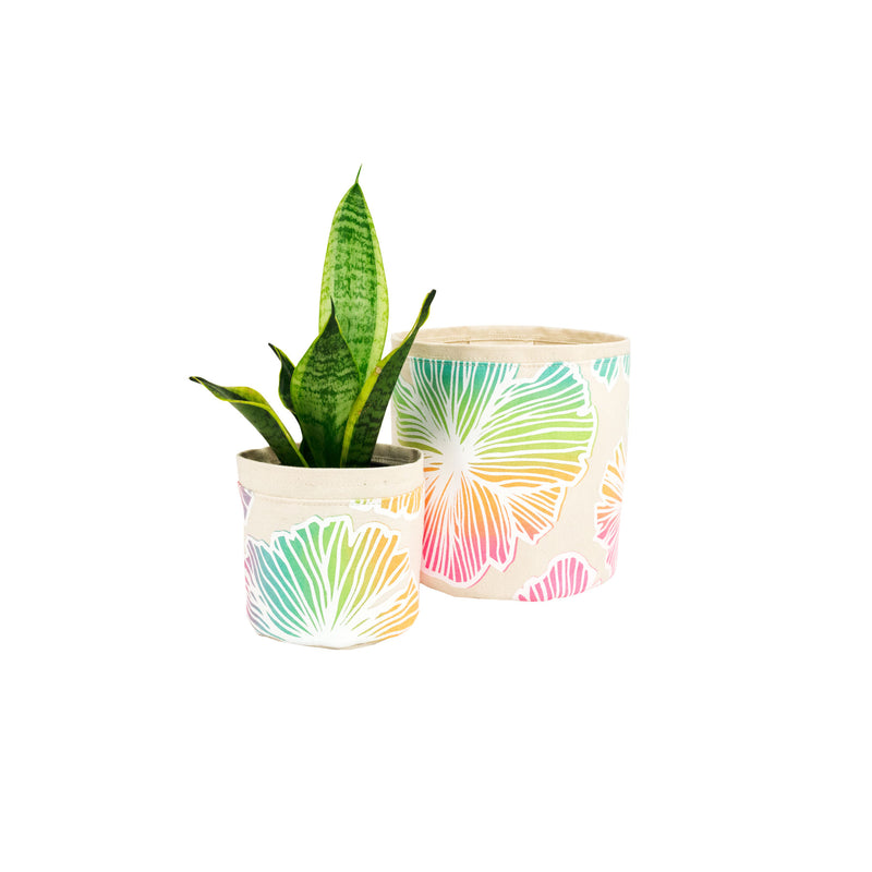 Fabric Plant Holder • Rainbow Seaflower • Sax + Jana Lam
