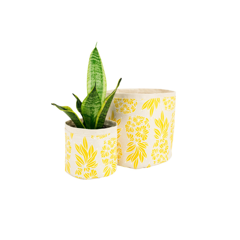 Fabric Plant Holder • Yellow Seaflower Pineapple • Sax + Jana Lam