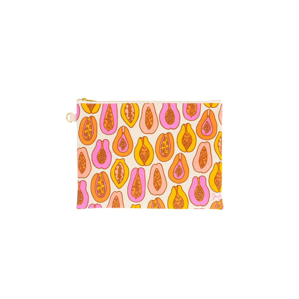 Zipper Clutch • Papaya