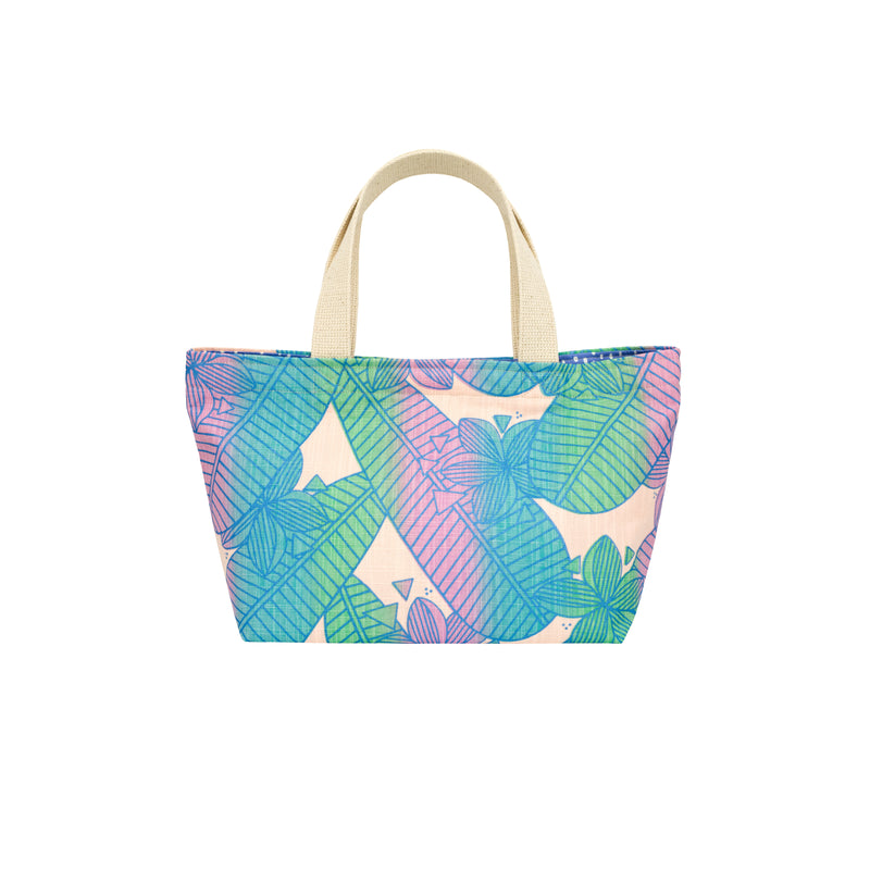 Mini Beach Bag Tote • Plumeria