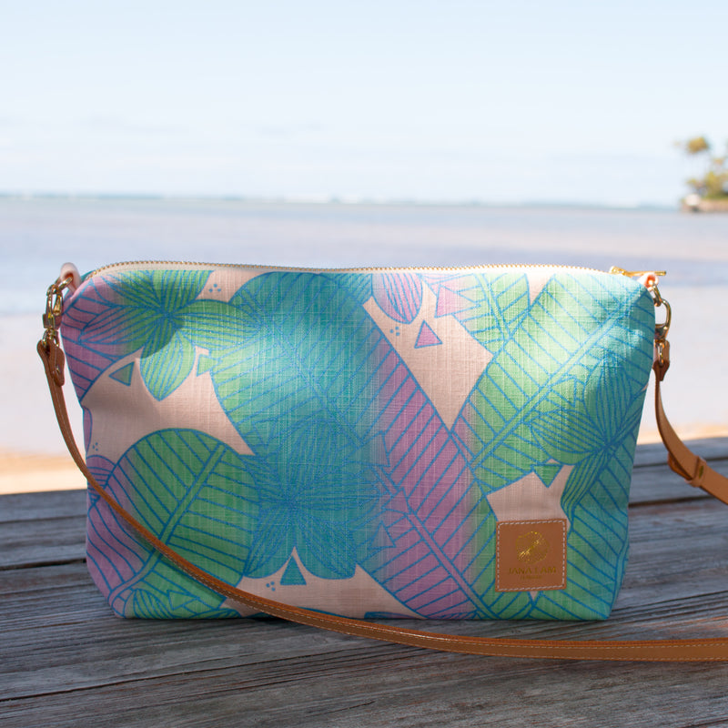 Mini Slouchy Cross Body • Plumeria