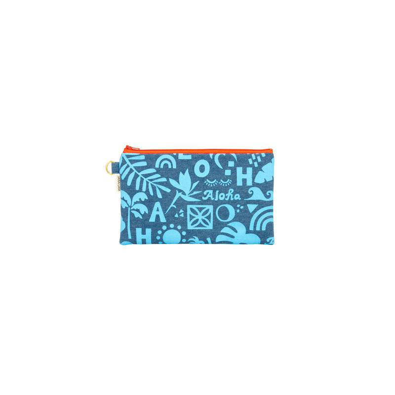 Classic Zipper Clutch • Block Party on Denim
