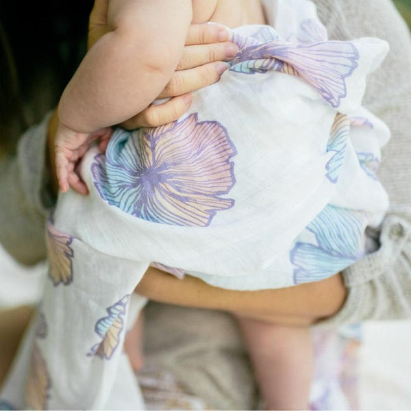 Swaddle Blanket • Seaflower Dream • Coco Moon + Jana Lam