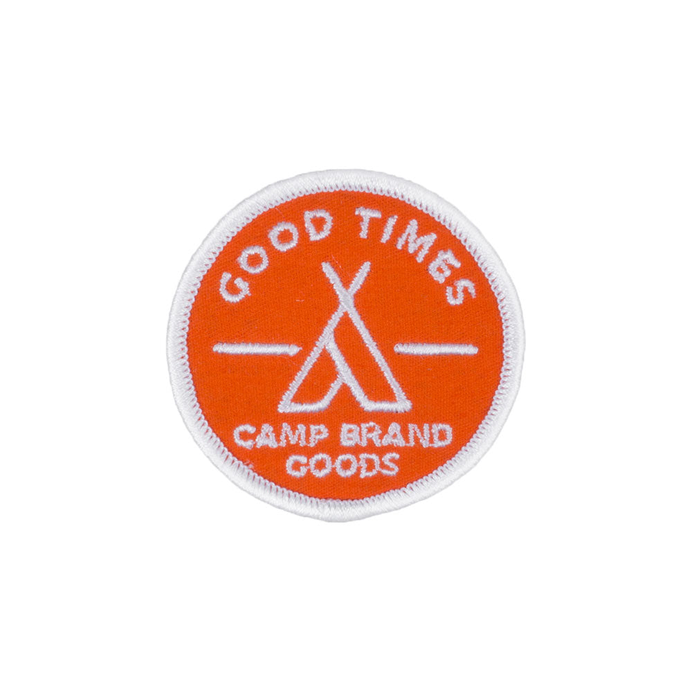 Camp Brand Goods Good Times Circle Patch
