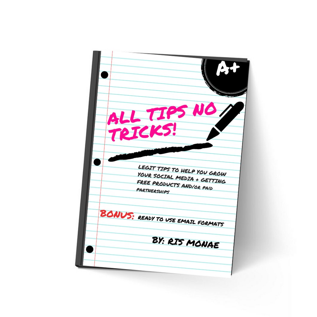 ALL TIPS NO TRICKS EBOOK
