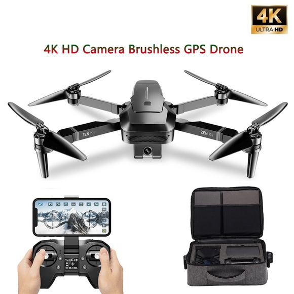 VISUO ZEN K1 GPS Drone with 5G WIFI 4K Wide-Angle HD FPV Dual Camera Brushless Motor RC Drone Quadcopter Flight 28 Mins VS B4W