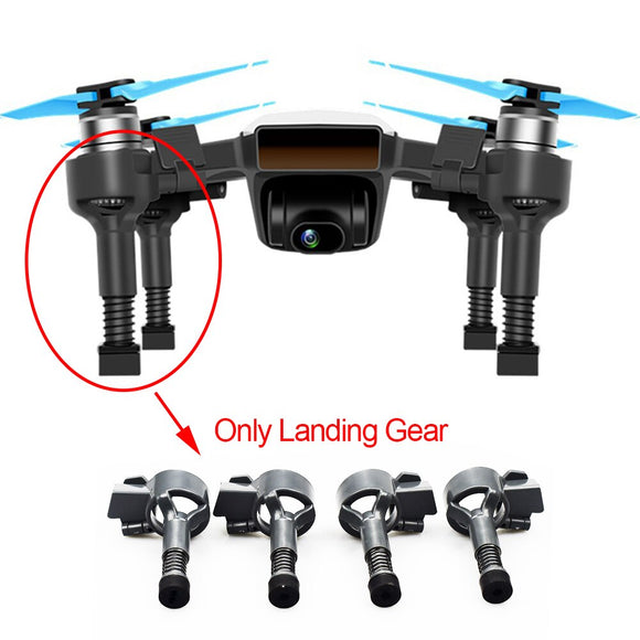 4Pcs Left Stable Drone Accessories Extended Bracket Landing Gear ABS Parts Heightened Replacements Spring Damping For DJI Spark