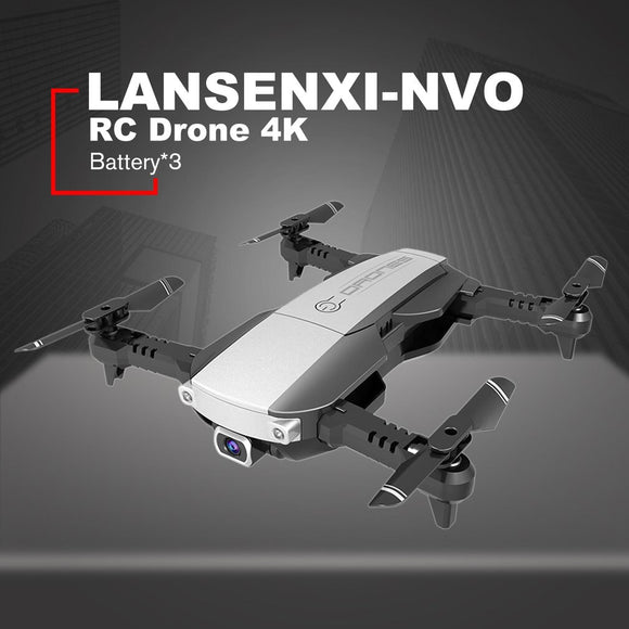 LANSENXI-NVO RC Drone 4K  Camera WiFi Optical Flow Real Time Aerial Video RC Quadcopter Aircraft  Toy With 3 Battery