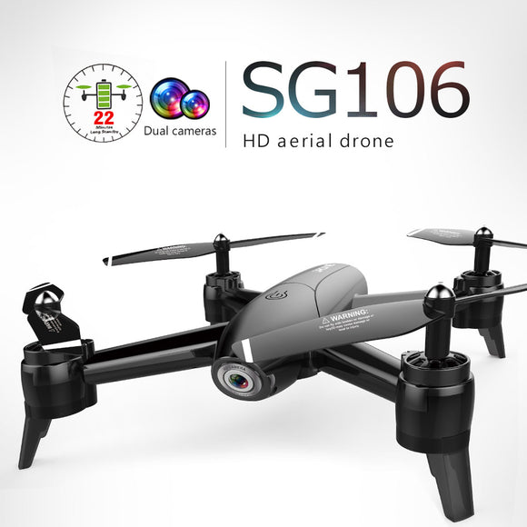 RC Quadcopter Optical Flow 1080P HD Dual Camera Dron Real Time Aerial Video RC Drone RTF Drones Aircraft Toys Kid In Stock Sg106