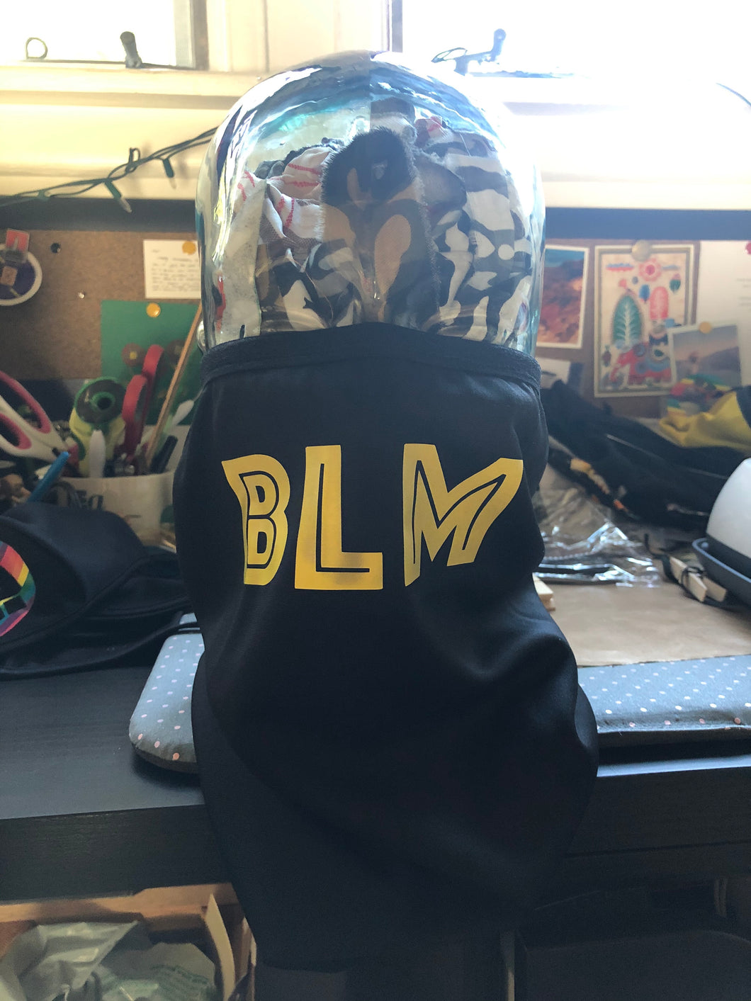 BLM Black and Yellow Reversible Tube Mask