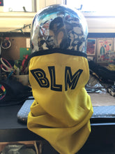 Load image into Gallery viewer, BLM Black and Yellow Reversible Tube Mask