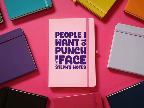 People I want To Punch In The Face A5 Soft Touch Notebook