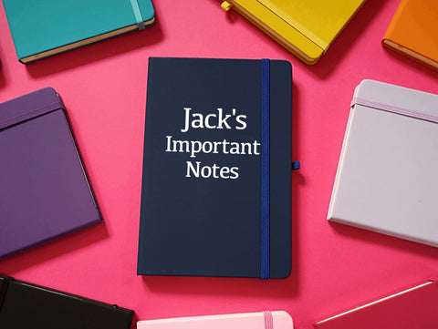 Important Notes Personalised A5 Soft Touch Notebook