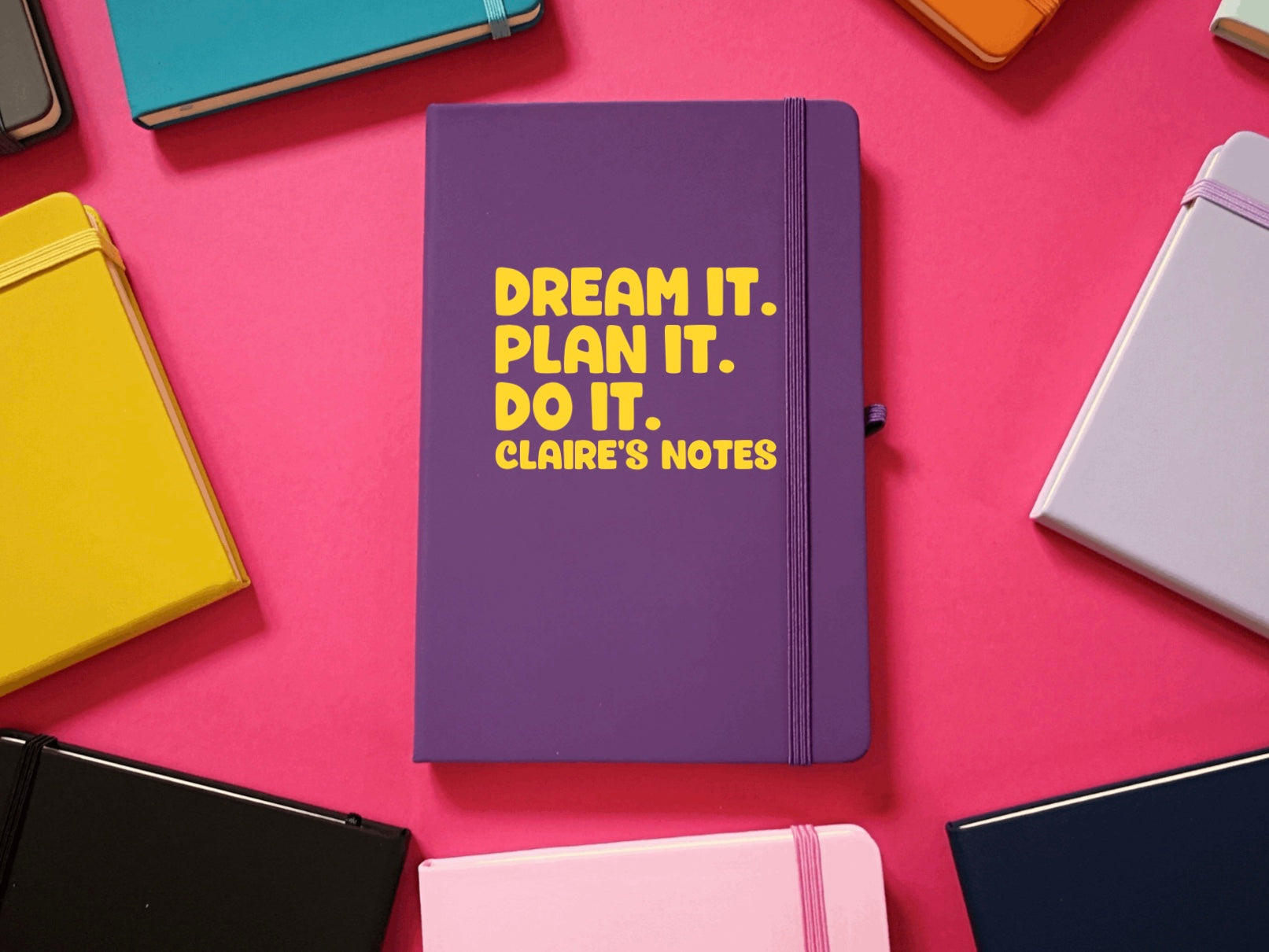 Dream It, Plan It, Do It Personalised A5 Soft Touch Notebook
