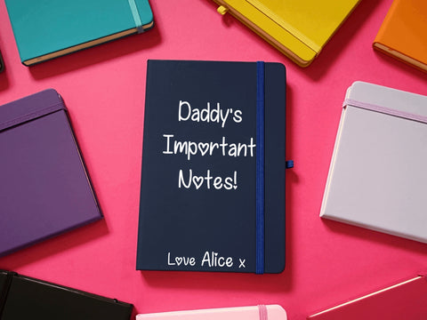 Daddy's Important Notes A5 Soft Touch Notebook