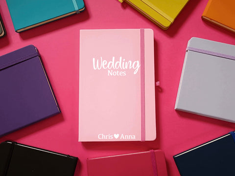 Personalised Wedding A5 Soft Touch Notebook