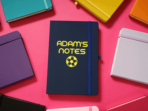 Football Notes Personalised A5 Soft Touch Notebook