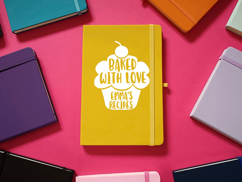 Baked with Love A5 Personalised A5 Soft Touch Notebook