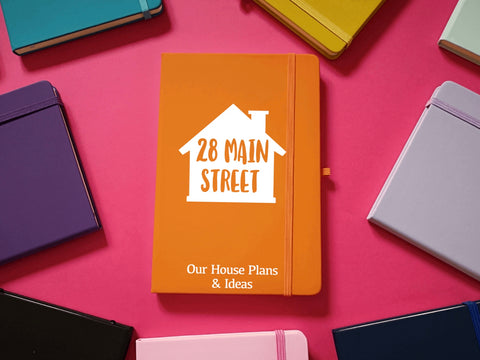 Our House Plans and Ideas Personalised A5 Soft Touch Notebook