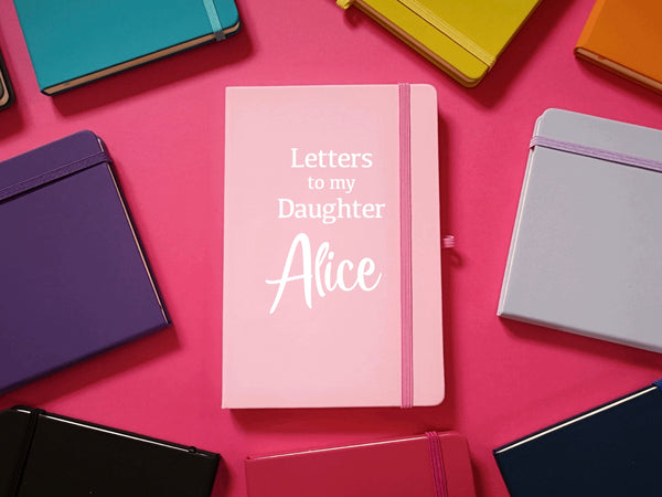 Letters to my Daughter Son Personalised A5 Soft Touch Notebook