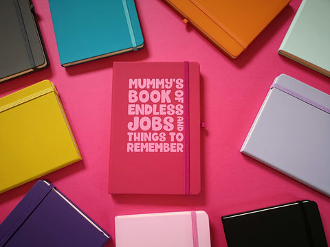 Mummy's Book Of Endless Jobs And Things To Remember A5 Soft Touch Notebook