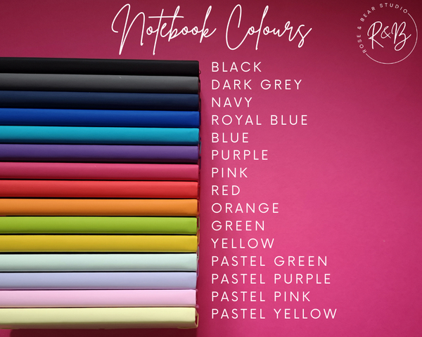 Soft Touch Notebook Cover Colours