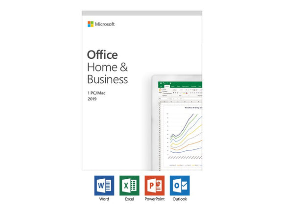 Microsoft Office Home and Business 2019 Medialess English