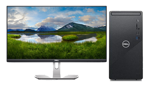 Dell Inspiron 3881 Intel Core i5-10400F 8GB RAM 256GB SDD + 1TB HDD GTX 1650 Win10 24inch Monitor