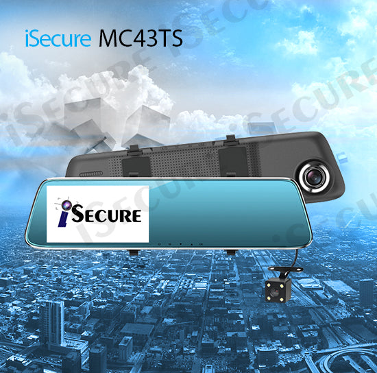 iSecure MC43TS HD Mirror Dash Cam