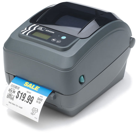 Zebra GX420t Direct Thermal/Thermal Transfer Printer Label Printer