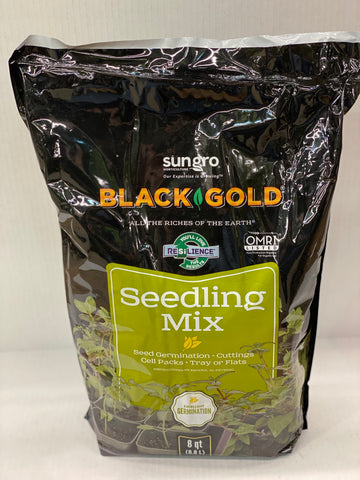 SUNGRO BLACK GOLD SEEDLING MIX 8 QT