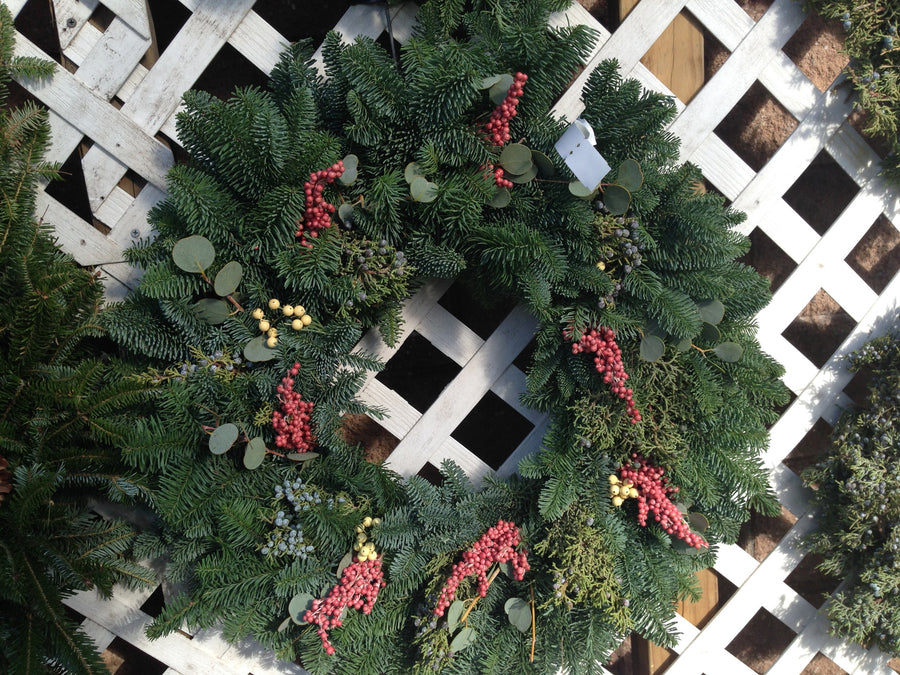 14 inch Scent of the Season Wreath - 14th Street Garden Center - 1