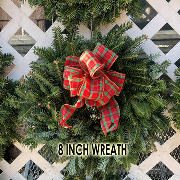 FRASER FIR WREATH WITH BOW 8 inch - 48 inch