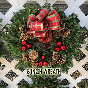 FRASER FIR WREATH DECORATED 8 INCH TO 48 INCH  $29.99-189.99