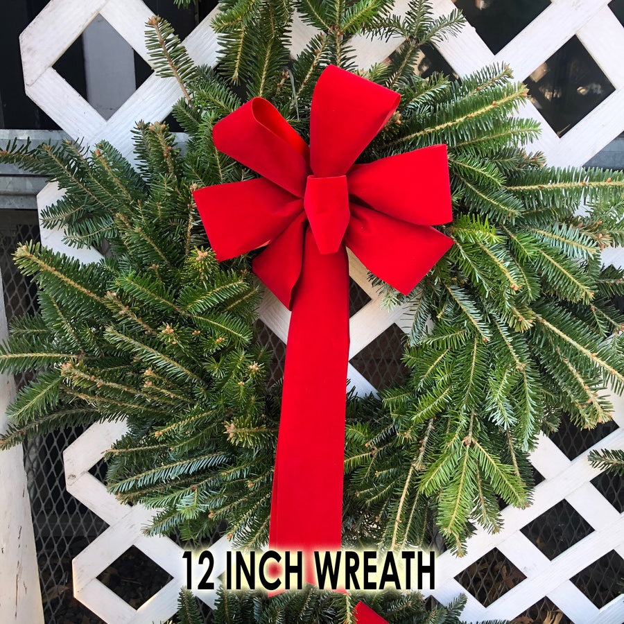 FRASER FIR WREATH WITH BOW 8 INCH TO 48 INCH $21.99-159.99