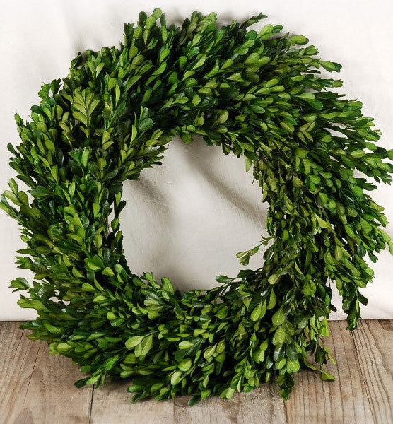 16 inch Boxwood Wreath - 14th Street Garden Center - 1