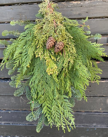 SWAG MIXED EVERGREENS 22 INCH