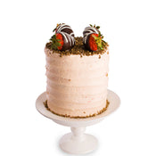 strawberry gold cake