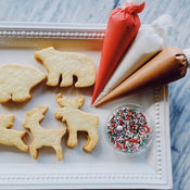winter animal cookie activity kit